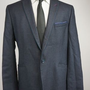 1a72dcbf4cf65 Ted Baker Suits   Blazers - Ted Baker Blue Jacket Mens Size 7 Wool Plaid XL